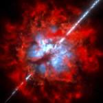 O ALMA investiga ambiente em torno de explosões de raios gama obscurecidas pela poeira cósmica