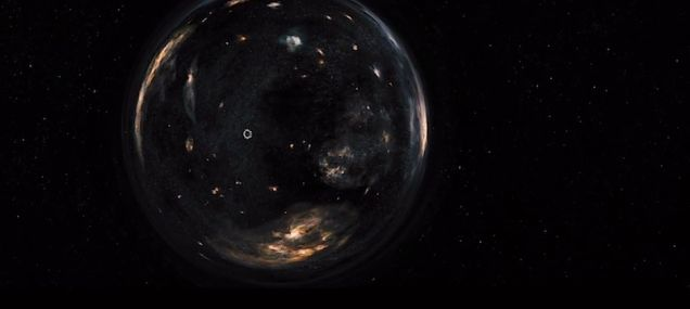 Visão da entrada do wormhole