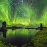 Vincent Brady revela panorama com auroras e riscos nos céus sobre a Islândia