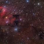 Uma pintura cósmica retrata 'a luz, a poeira e a escuridão' por Herbert Walker
