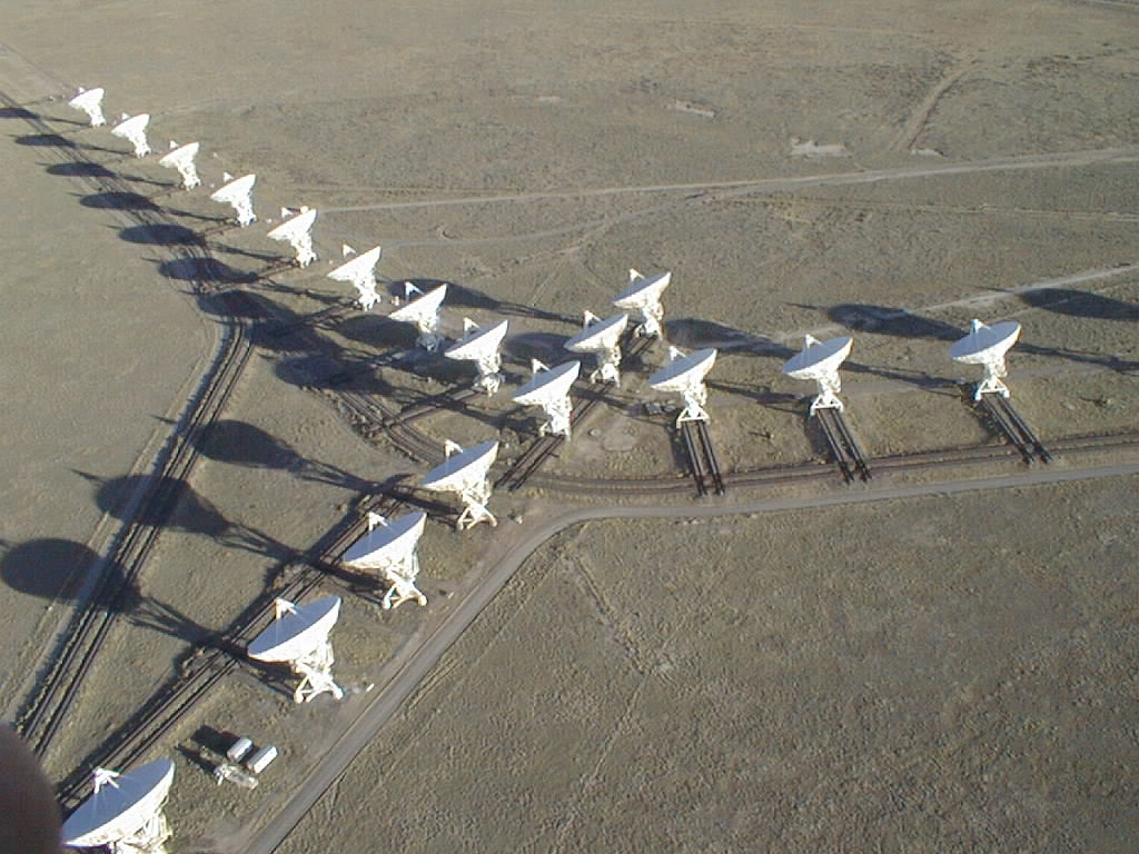 Very Large Array - Créditos: Dave Finley,  National Radio Astronomy Observatory & Associated Universities, Inc.