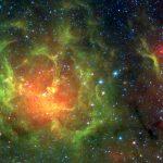 M20: a nebulosa Trífida em infravermelho capturada pelo SPITZER
