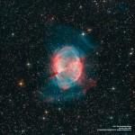 M27: a nebulosa planetária do Haltere por Francesco di Biase