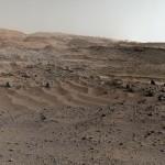Seis de agosto de 2015: Uma visão de Marte pela Curiosity celebra seu terceiro aniversário