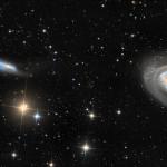 Arp 159 e NGC 4725 por Stephen Leshin