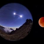 Sequência do eclipse total lunar no perigeu em La Palma por Miguel Claro