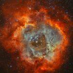 Arno Rottal revela a Nebulosa Roseta através dos filtros de Hidrogênio e Oxigênio