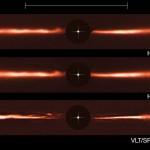 ESO encontra estruturas únicas em volta da estrela próxima AU Microscopii