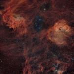 Nebulosas e aglomerados em Aurigae (Cocheiro) por Fritz Helmut Hemmerich