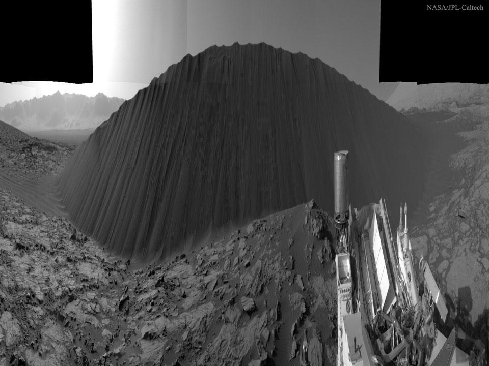 Dark Dune Mars Curiosity