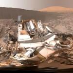 O intrépido robô Curiosity e a Duna Namib em Marte (Visão 360 graus)