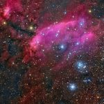 IC 4628: visões da Nebulosa do Camarão por Michael Sidonio e por Roberto Colombari