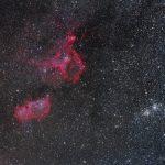 As Nebulosas da Alma e do Coração e o Aglomerado Duplo por Adrien Klamerius