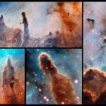 VLT/MUSE revela a colorida Nebulosa Carina sendo destruída por estrelas próximas brilhantes