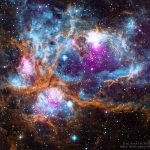 NGC 6357: a Maravilhosa Fábrica Estelar por L, Townsley et al (UKIRT), Chandra e Spitzer