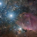 O Cinturão de Órion, a Nebulosa da Chama e a Cabeça do Cavalo por Rogelio Bernal Andreo