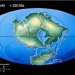 Mapa da Terra em 250 milhões de anos – Pangea 2