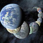 Como se forma a água onde nascem os mundos similares a Terra