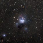NGC 7129: o aglomerado estelar aberto revelado por Ken Crawford