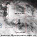 Nebulosas de Mandel Wilson e a galáxia M81. Créditos: D.J. Schlegel, D.P. Finkbeiner, & M. Davis