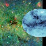 Aglomerados de poeira cósmica lançam sombras profundas no espaço e explicam a origem das massivas estrelas classe O