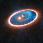 ALMA estuda formação exoplanetária no sistema binário GG Tauri-A e descobre uma corrente de gás inédita