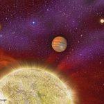 O sistema 30 Ari abriga um exoplaneta com quatro estrelas-mãe
