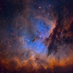 NGC 281: retratos da nebulosa PacMan por Martin Pugh e Ken Crawford (Rancho Del Sol Observatory)