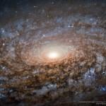Hubble revela o coração da galáxia espiral NGC 3521, processada por Robert Gendler