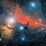 A Nebulosa Cabeça do Cavalo e a Nebulosa da Chama por José Jiménez Priego