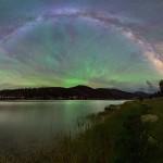 O Brilho Atmosférico e a Via Láctea por Dave Lane