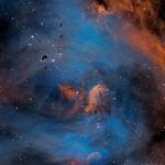 IC 2944: Estrelas e Glóbulos de Thackeray na Nebulosa Lambda Centauri por Martin Pugh