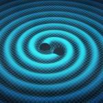 A fusão simulada dos dois buracos negros detectados pelo LIGO
