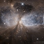 A região de formação estelar Sharpless 2-106 capturada pelo Hubble e processada por Brandon Pimenta