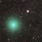 O cometa 252/P LINEAR e o aglomerado estelar M14 por José J Chambó
