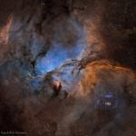 NGC 6188 e NGC 6164 por Martin Pugh & Rick Stevenson