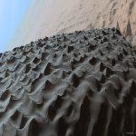 Close da escura Duna Namib na Cratera Gale em Marte pela Curiosity