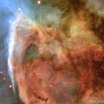 O buraco de fechadura na Nebulosa Carina pelo Hubble